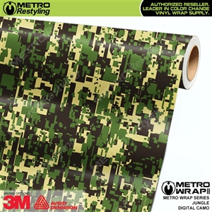 Digital Jungle Camouflage Vinyl Car Wrap Film