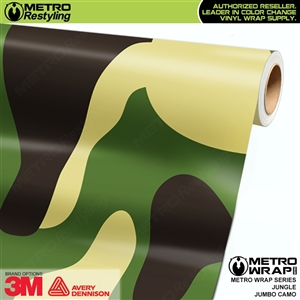 Jumbo Jungle Camouflage Vehicle Vinyl Wrap Film