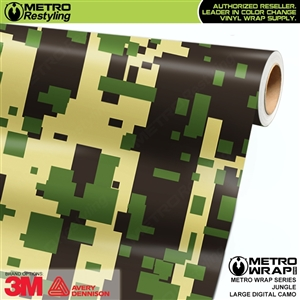 Large Digital Jungle Camouflage Vinyl Vehicle Wrap Film