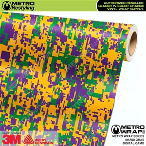 Digital Mardi Gras Camouflage Vinyl Car Wrap Film