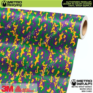 Mini Mardi Gras Camouflage wrap car vinyl film