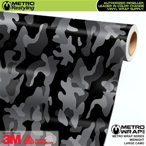 Large Midnight Camouflage Vinyl Vehicle Wrap Film