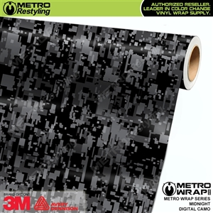 Digital Midnight Camouflage Vinyl Vehicle Wrap Film
