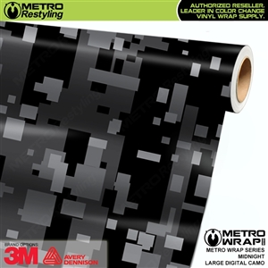 Large Digital Midnight Camouflage Vinyl Car Wrap Film