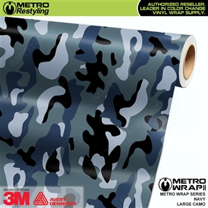 Large Navy Camouflage Vinyl Vehicle Wrap Film