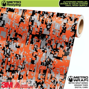 Digital Orange Tiger Camouflage Vinyl Car Wrap Film