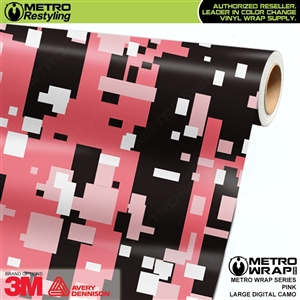 Large Digital Pink Camouflage Vinyl Vehicle Wrap Film