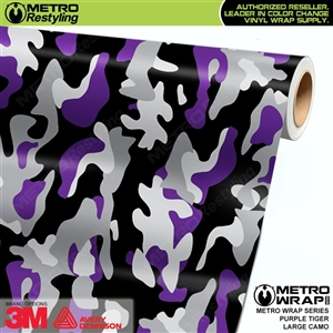 Large Purple Tiger Camouflage Vinyl Car Wrap Film