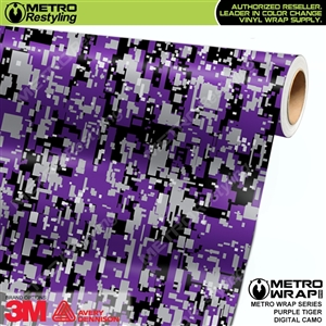 Digital Purple Tiger Camouflage Vinyl Car Wrap Film