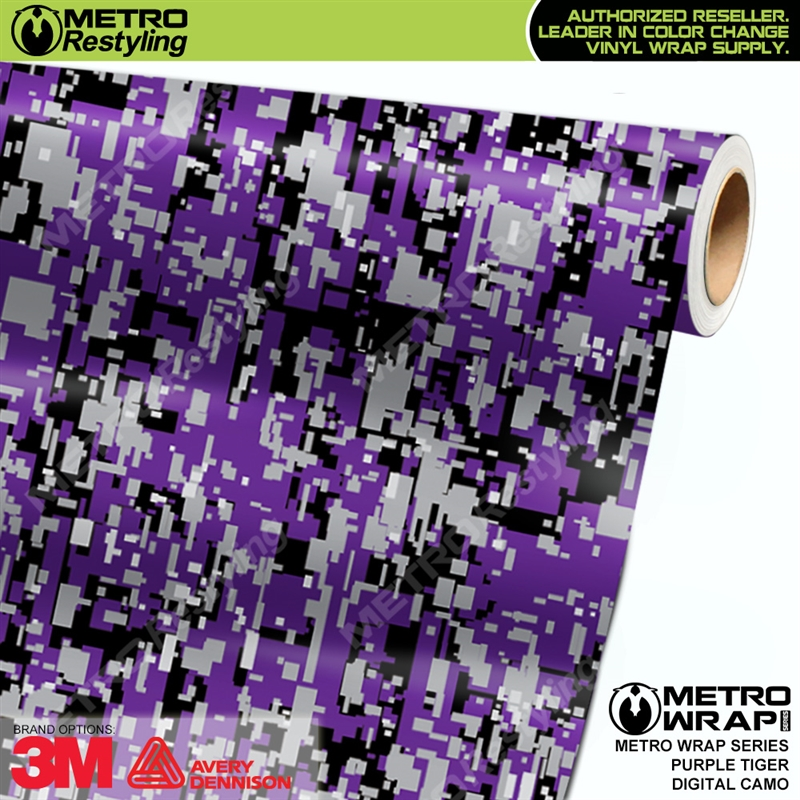 d2b78a6bd0 Digital Purple Tiger is a camo vehicle vinyl wrap with an awesome ...