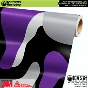 Jumbo Purple Tiger Camouflage Vinyl Car Wrap Film