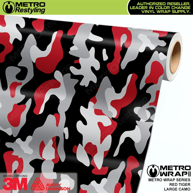 White Tire Paint >> Large Red Tiger Camo is a long lasting, vehicle vinyl wrap made up of red, white, light gray and ...