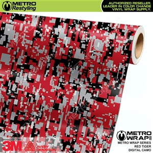 Digital Red Tiger Camouflage Vehicle Vinyl Wrap Film