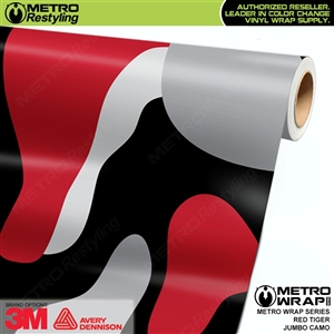 Jumbo Red Tiger Camouflage Car Vinyl Wrap Film