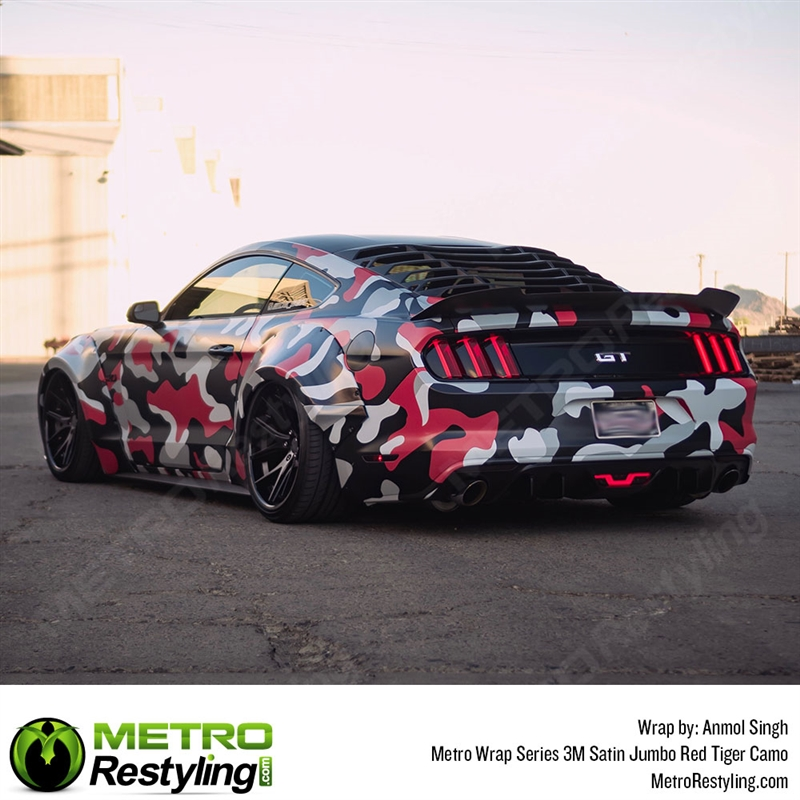 Jumbo Red Tiger Camo Is A Car Wrap Vinyl Film Made Up Of