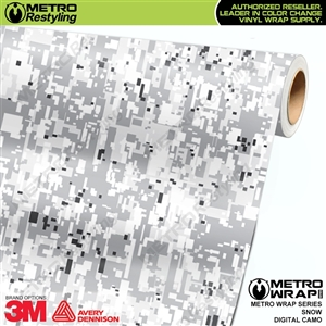 Digital Snow Camouflage Vinyl Car Wrap Film