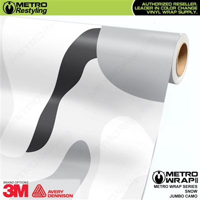 Jumbo Snow Camouflage Vinyl Vehicle Wrap Film