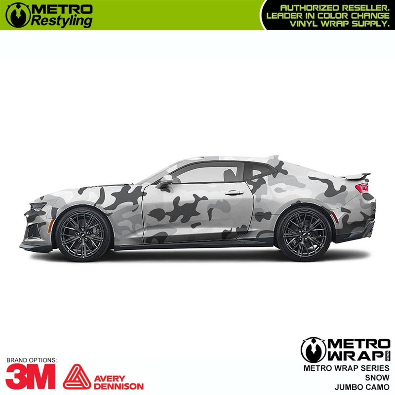 Jumbo Snow Is A Camouflage Vinyl Car Wrap That Is Composed