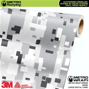 Large Digital Snow Camouflage Vinyl Car Wrap Film