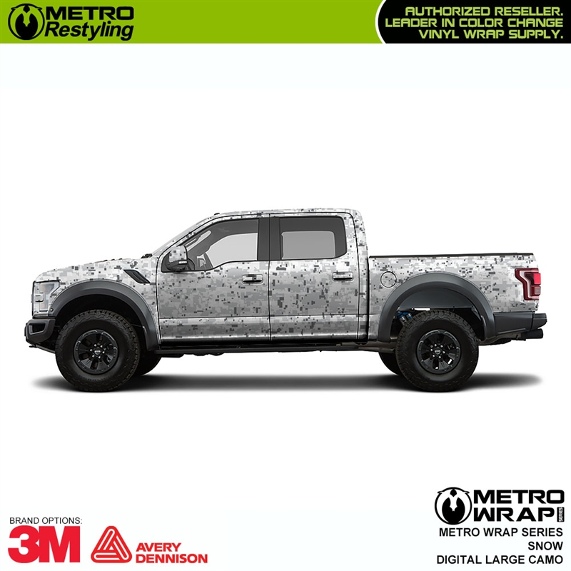 Large Digital Snow Camouflage Vinyl Wrap Film Shop