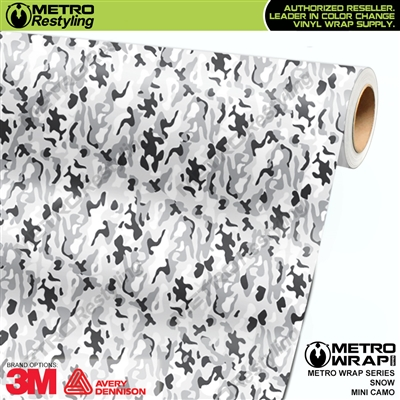 Mini Snow Camouflage Vinyl Car Wrap Film