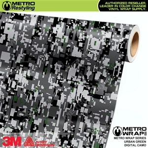 Digital Urban Green Camouflage Vinyl Car Wrap Film