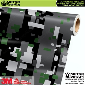 Large Digital Urban Green Camouflage Vehicle Vinyl Wrap Film