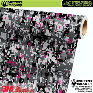 Digital Urban Magenta Camouflage Vehicle Vinyl Wrap Film