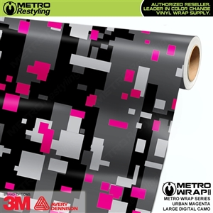 Digital Urban Magenta Camouflage Vinyl Car Wrap Film