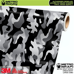 Large Urban Night Camouflage Vinyl Vehicle Wrap Film