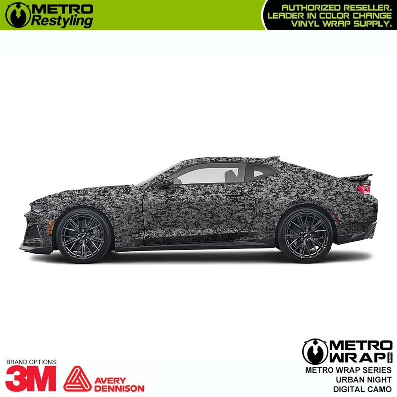 Digital Urban Night Camouflage Vinyl Wrap Metro Restyling