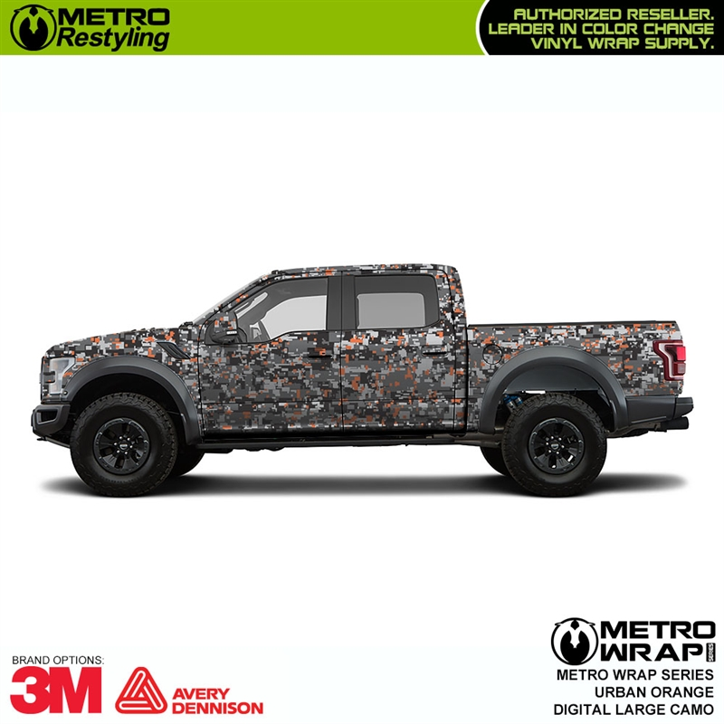 e1cedfccee Large Digital Urban Orange camo is a large digital pattern vinyl car ...