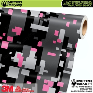 Digital Urban Pink Camouflage Vinyl Car Wrap Film