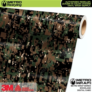 digital woodland camo vinyl wrap