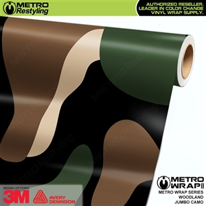 Jumbo Woodland Camouflage Vinyl Car Wrap Film