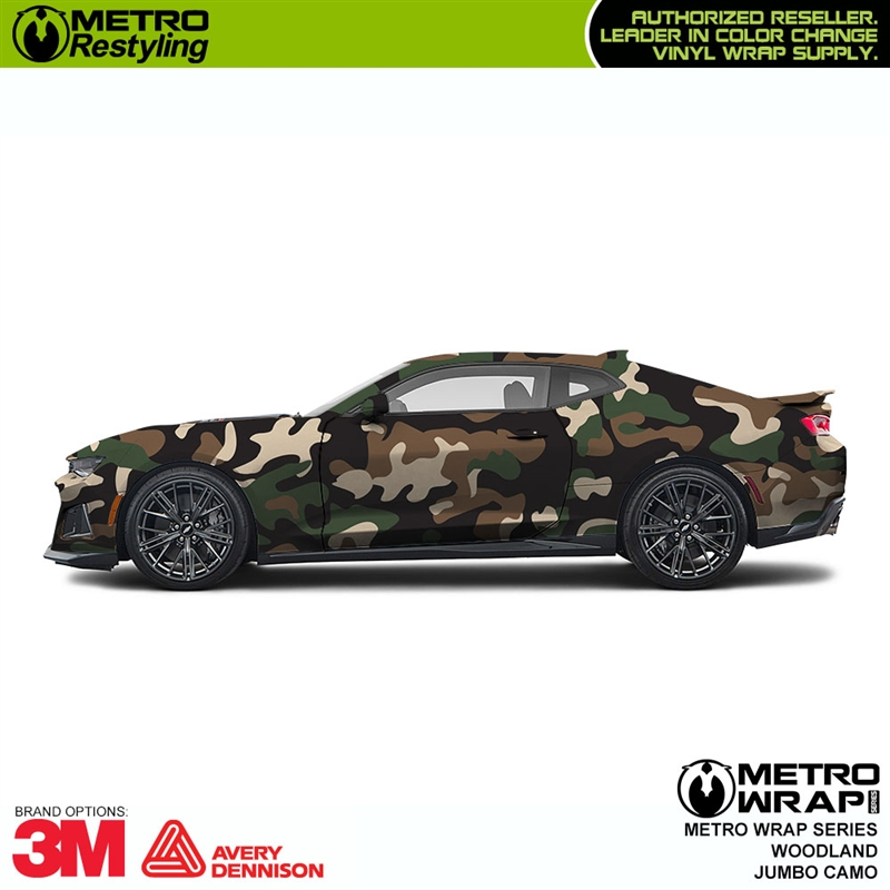 77734e4a49 Jumbo Woodland is a camouflage vinyl wrap composed of colors such as ...
