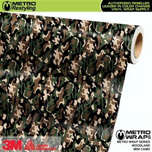 mini woodland camouflage vinyl wrap