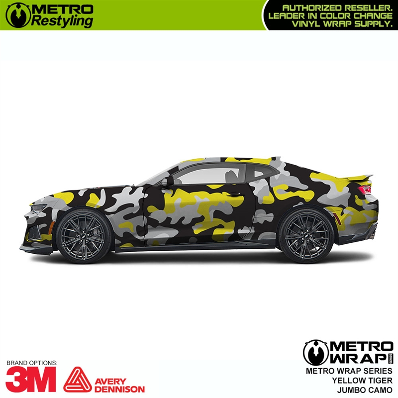 Jumbo Yellow Is A Tiger Camo Wrap Made Up Of Yellow