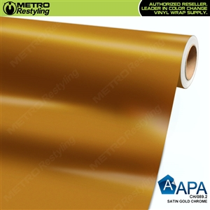 APA Vehicle Wrap Film | Satin Gold Chrome | CH/089.2
