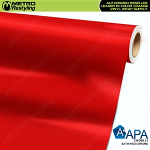 APA Vehicle Wrap Film | Satin Red Chrome | CH/089.31