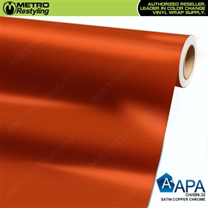 APA Vehicle Wrap Film | Satin Rust Chrome | CH/089.34