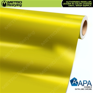 APA Vehicle Wrap Film | Satin Lime Chrome | CH/089.5