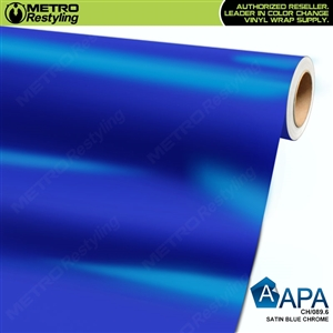 APA Vehicle Wrap Film | Satin Blue Chrome | CH/089.6