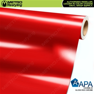 APA Vehicle Wrap Film | Gloss Red Chrome | CH/S99.31