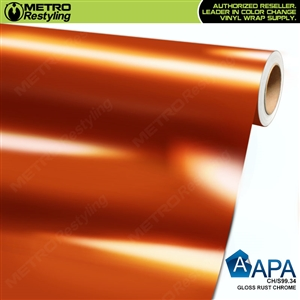 APA Vehicle Wrap Film | Gloss Rust Chrome | CH/S99.34