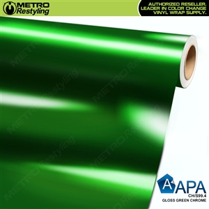 APA Vehicle Wrap Film | Gloss Green Chrome | CH/S99.4