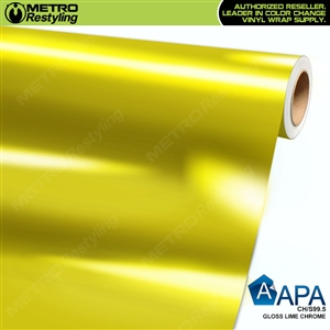 APA Vehicle Wrap Film | Gloss Lime Chrome | CH/S99.5
