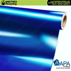 APA Gloss Blue Chrome CH/S99.62 Car Wrap Film