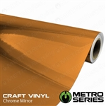 orange chrome car wrap 12in width