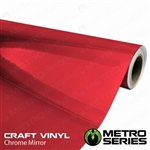 red chrome vinyl car wrap 12in width